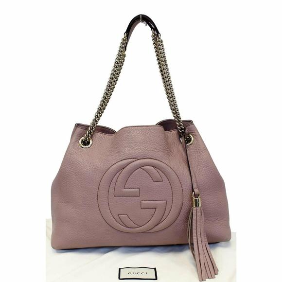 737654e21953 Gucci Bags | Soho Pebbled Leather Chain Shoulder Bag | Poshmark